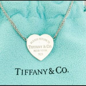 Tiffany and Co. heart pendant necklace